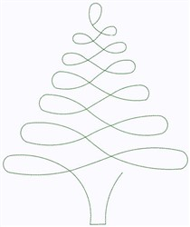 Christmas Tree Continuous Stitch embroidery design