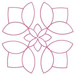 Flower Block embroidery design