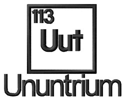 Ununtrium embroidery design