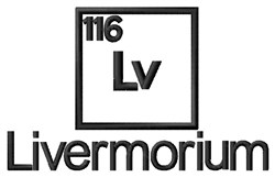 Livermorium embroidery design