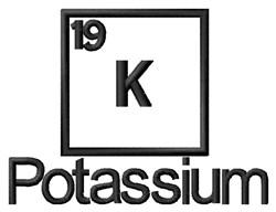 Potassium embroidery design