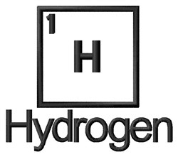 Hydrogen embroidery design