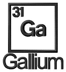 Gallium embroidery design