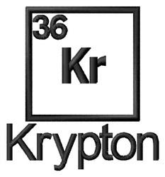 Krypton embroidery design
