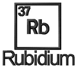 Rubidium embroidery design