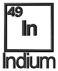 Indium embroidery design