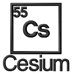 Cesium embroidery design