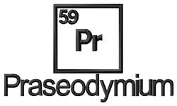 Praseodymium embroidery design
