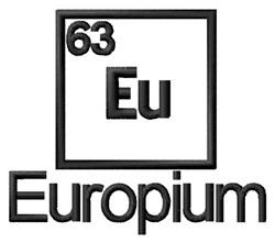 Europium embroidery design
