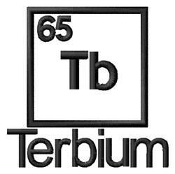 Terbium embroidery design
