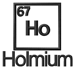 Holmium embroidery design