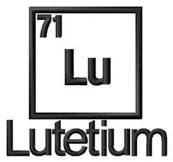 Lutetium embroidery design