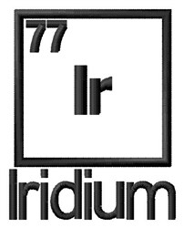 Iridium embroidery design