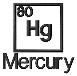 Mercury embroidery design
