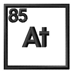 Atomic Number 85 embroidery design