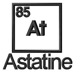 Astatine embroidery design