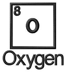 Oxygen embroidery design