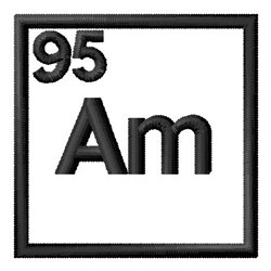 Atomic Number 95 embroidery design