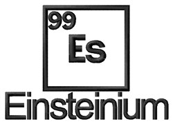 Einsteinium embroidery design