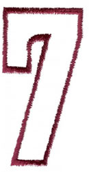 Empty Tank 7 embroidery design