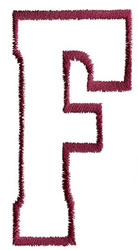 Empty Tank F embroidery design