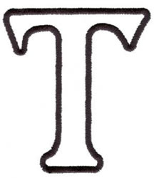 Applique T embroidery design