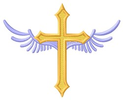 Winged Cross embroidery design
