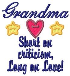 Grandma Love embroidery design