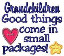 Grandchildren embroidery design