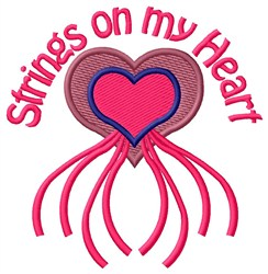 Strings On embroidery design