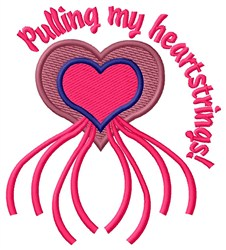 Pulling Heartstrings embroidery design