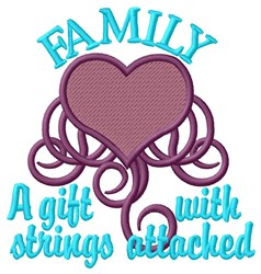 Family Strings embroidery design