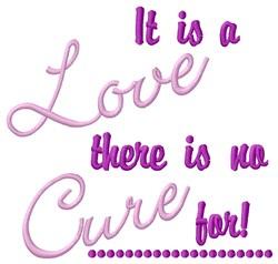 A Love embroidery design