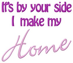 Make My Home embroidery design