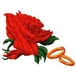 Wedding Bands & Rose embroidery design