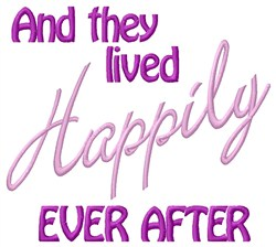 They Lived Happily embroidery design
