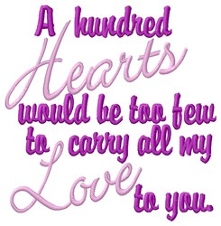 A Hundrede Hearts embroidery design
