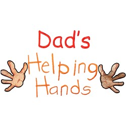 Dads Helping Hands embroidery design