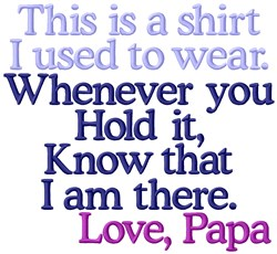 My Shirt Papa embroidery design
