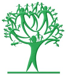 Family Tree embroidery design