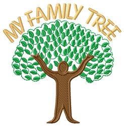 My Family  Tree embroidery design