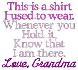 Grandma Shirt embroidery design