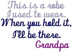 Robe Grandpa embroidery design