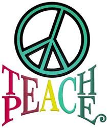 Teach Peace Sign embroidery design
