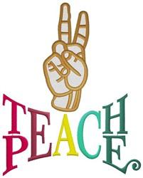 Teach Peace embroidery design