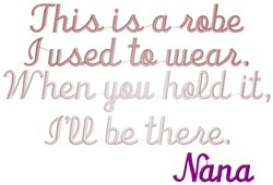 Robe Nana embroidery design