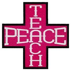 Teach Peace Cross embroidery design