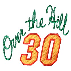 Over the Hill Thirty embroidery design