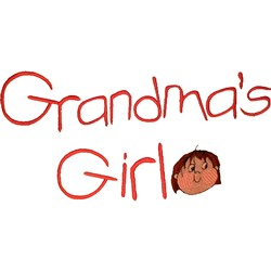 Grandmas Girl embroidery design