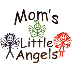 Moms Little Angels embroidery design